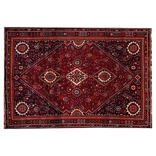 "Persian Shiraz Rug, 7'4"" x 10'7"""