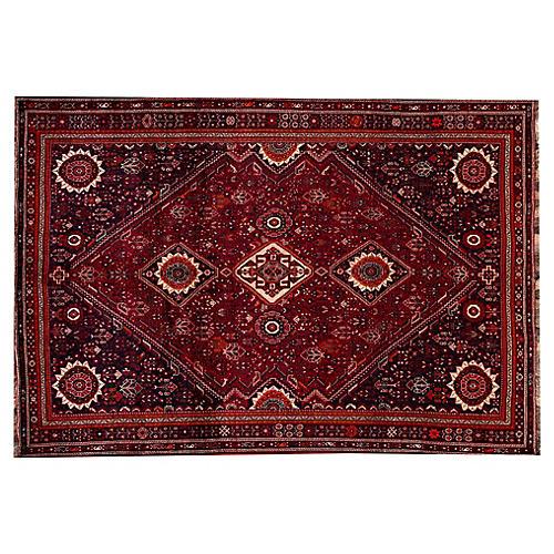 "Vintage Persian Shiraz Rug, 7'4"" x 10'7"""