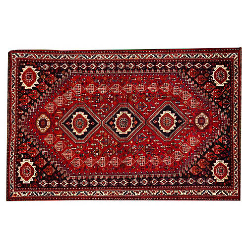 "Persian Shiraz Rug, 5'8"" x 8'8"""