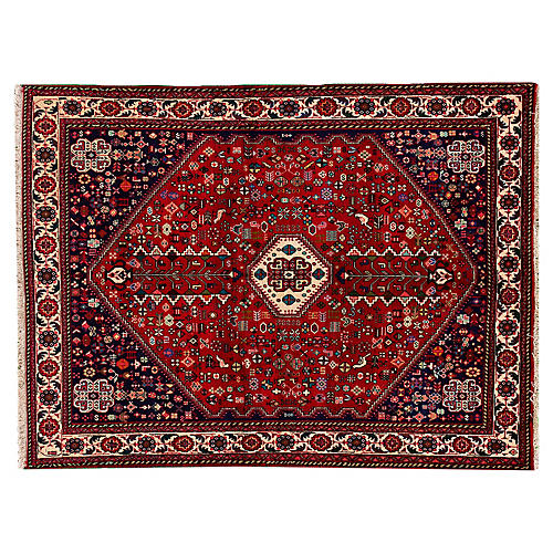 Persian Shiraz Rug, 5' x 6'8""