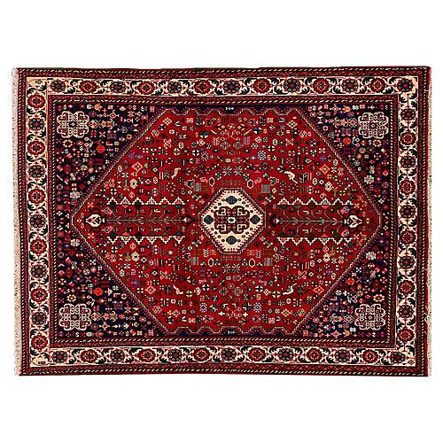 "Vintage Persian Shiraz Rug, 5' x 6'8"""