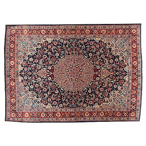 "Persian Kashan Carpet, 9'9"" x 13'8"""