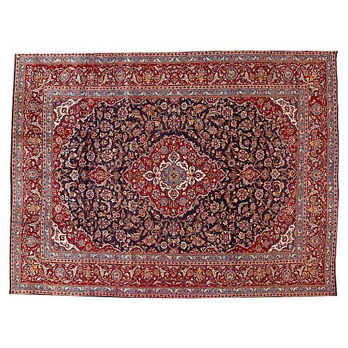 """Kashan Carpet, 9'8"""" x 12'9"""""""