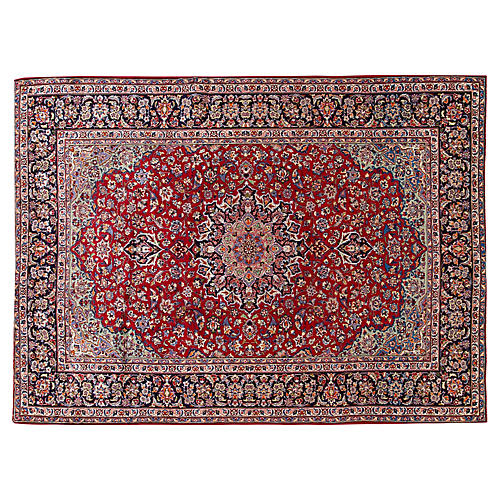 "Persian Mashad Carpet, 9'8"" x 13'2"""