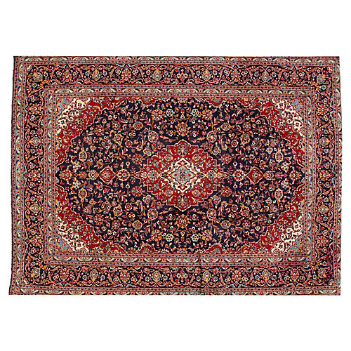 "Persian Kashan Carpet, 9'8"" x 13'"