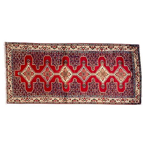 "Persian Hamadan Rug, 3' x 6'9"""