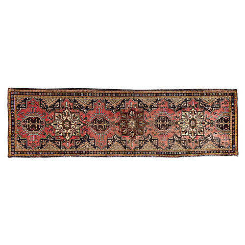 "Persian Heriz Runner, 3'9"" x 12'6"""