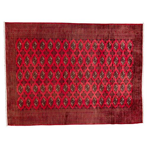 "Turkmen Carpet, 9'2"" x 12'4"""