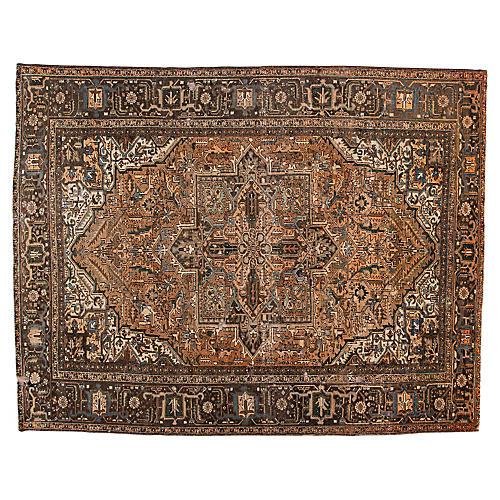 "Persian Heriz Carpet, 10'1"" x 12'10"""
