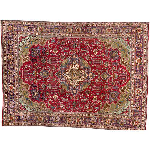 "Vintage Persian Rug, 9'4"" x 13'0"""