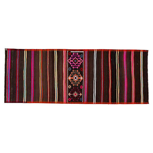 Vintage Turkish Kilim Rug, 3' x 8'