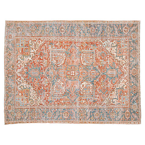 "Antique Heriz Rug, 8'3"" x 11'0"""