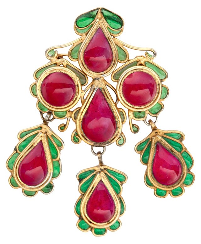 1940s French Gripoix Brooch