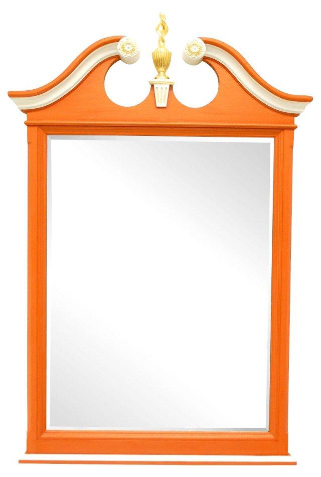 Gilt Orange Federal-Style Mirror