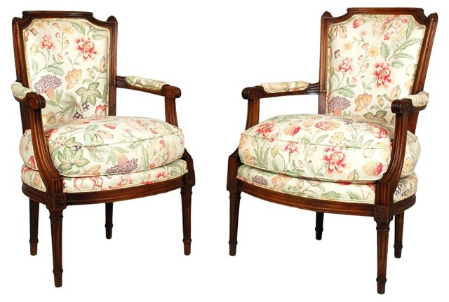 19th-C.  French Chairs, Pair