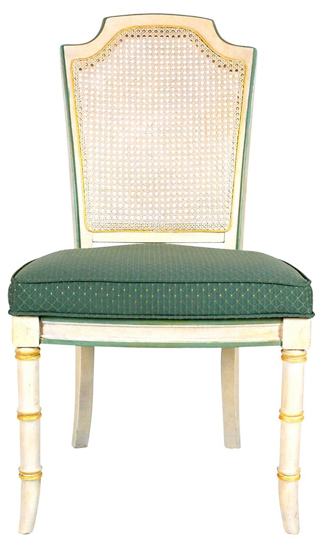 Painted French-Style Dining Chairs, S/6