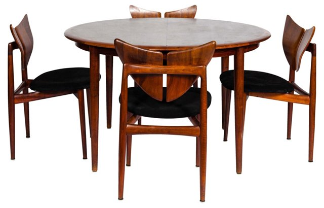 Kurt Østervig Dining Table &  4 Chairs