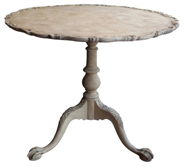 Hand-Carved Piecrust Table