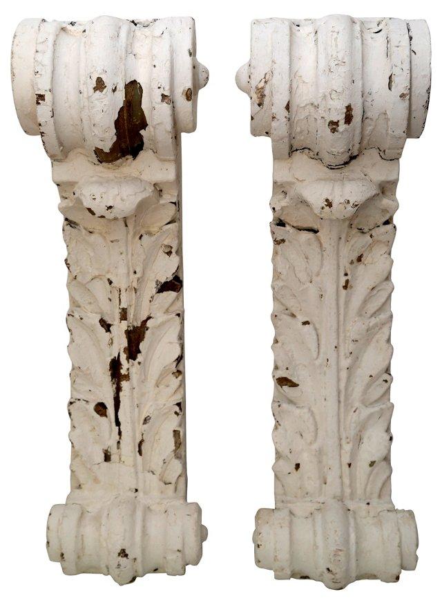 Antique Architectural Corbels, Pair