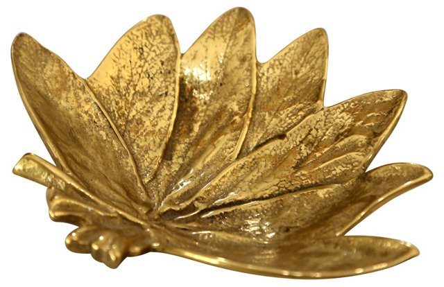 Brass Sage Leaf Tray