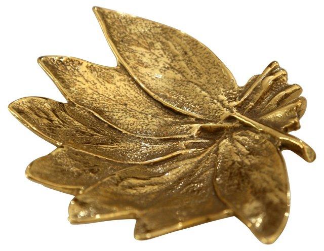 Brass Sage Leaf Dish
