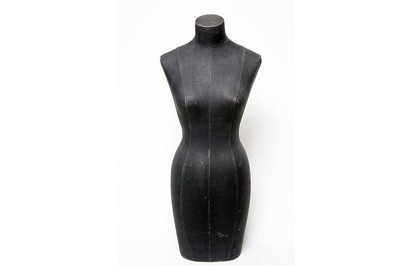 European Black Linen Mannequin