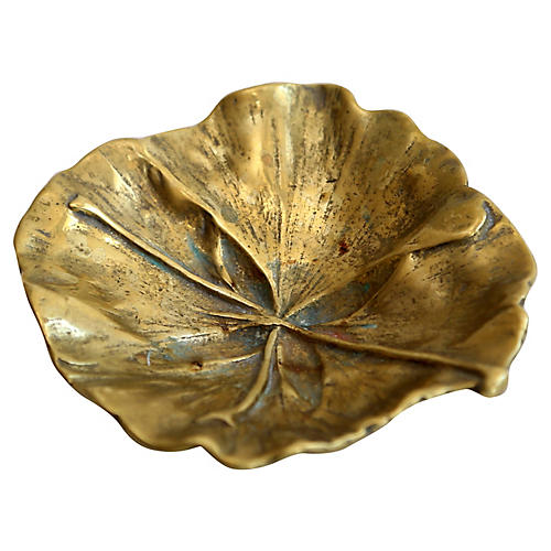 Brass Ginkgo Leaf