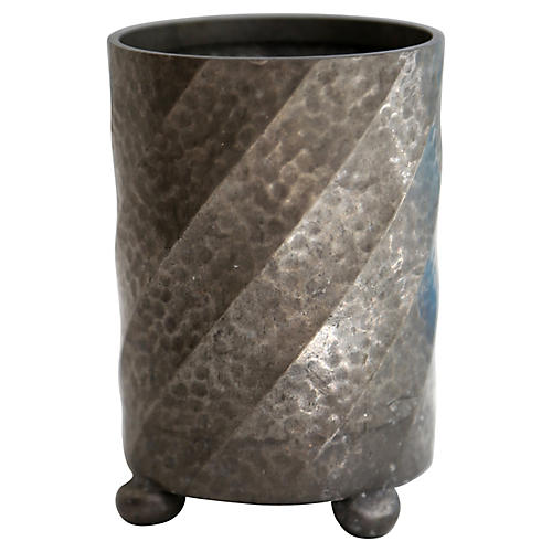 English Pewter Footed Canister