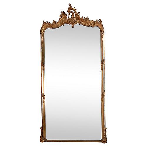 Monumental Giltwood Mirror