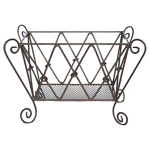 Handwrought Magazine Rack