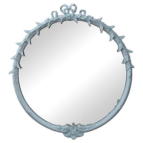 Midcentury Round Ribbon Mirror