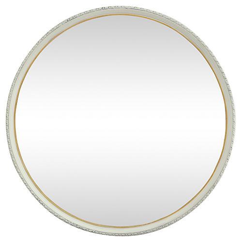 Midcentury Round Mirror