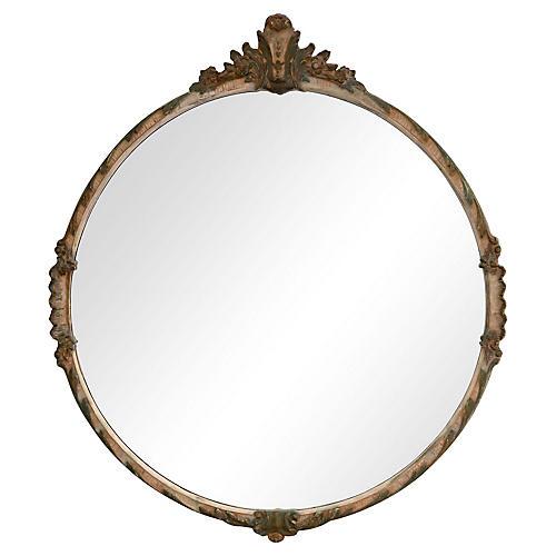 Italian Hand-Carved Mirror
