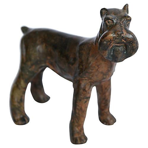 Bronze Schnauzer Figurine