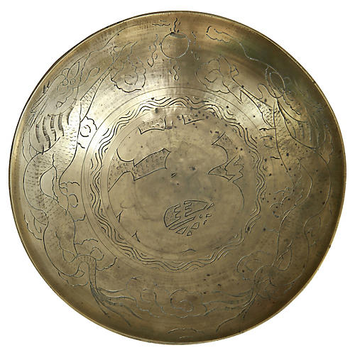 Hand-Etched Brass Plate