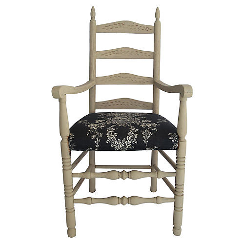 Oak Ladderback Armchair