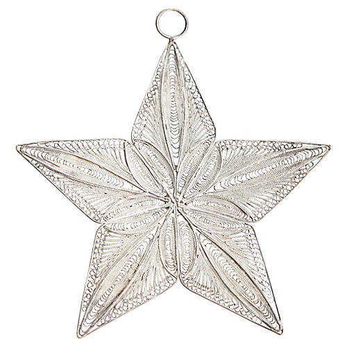Silver 5-Point Star Ornament