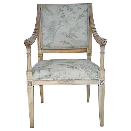 Italian Carved Armchair
