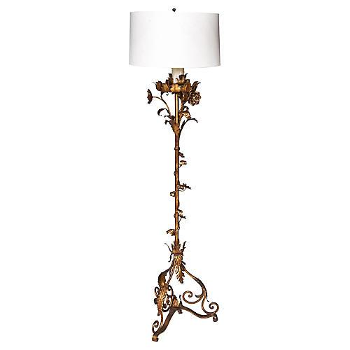 Italian Regency Style Gilt Floor Lamp