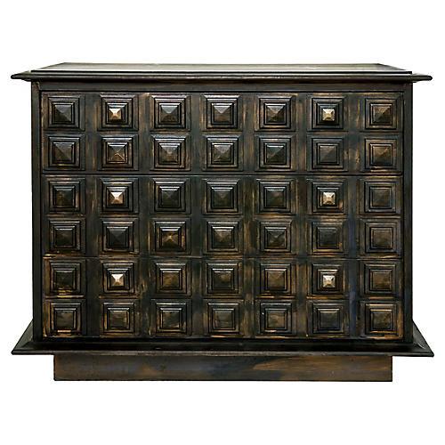 Dark Dresser w/ Cubist Motif