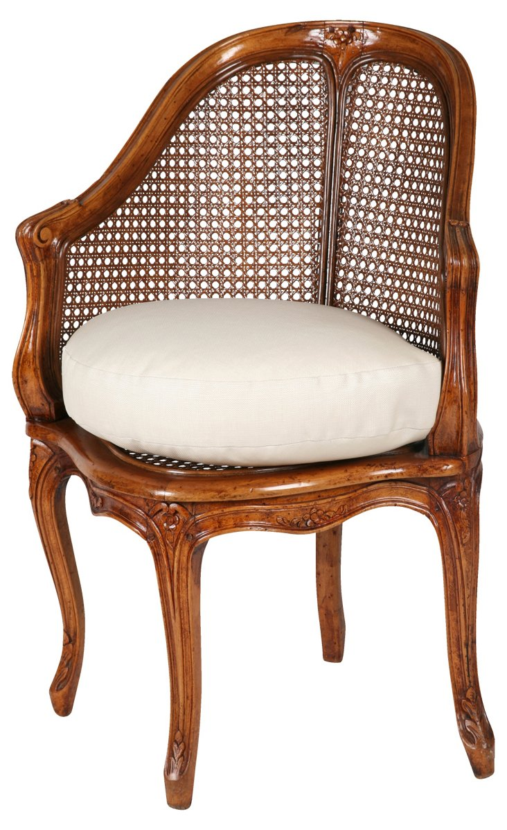 Corner Chair w/ Caned Back