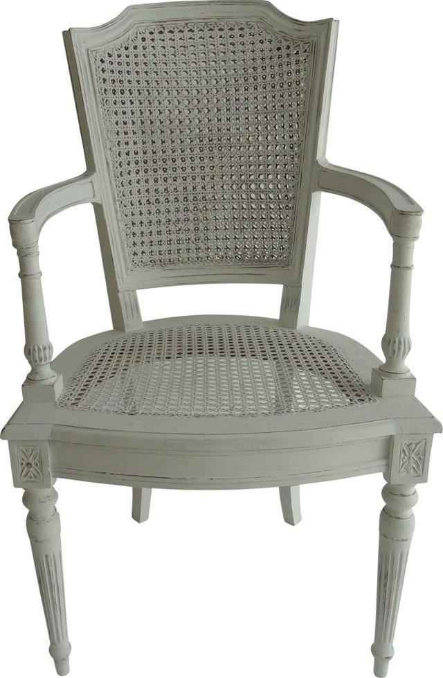 Neoclassical-Style Cane Armchair