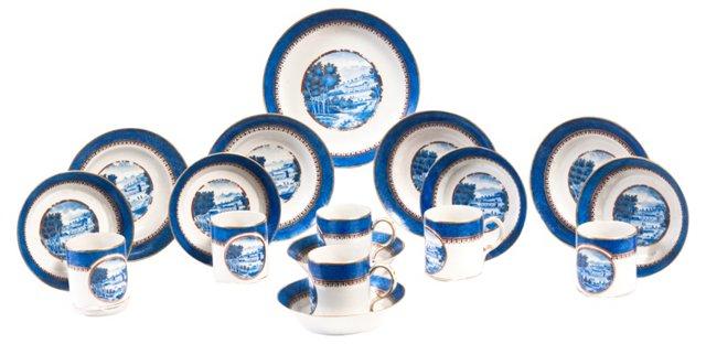 Export Chinese Porcelain,  17 Pcs