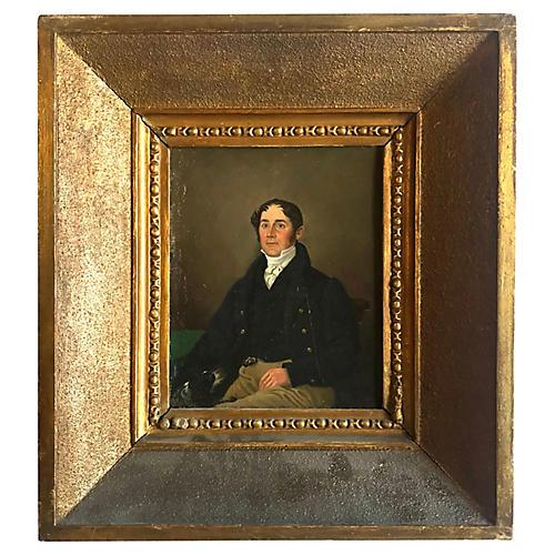 Portrait of a man by Edmund Ward Gill