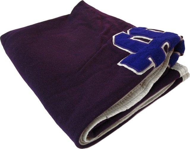 Purple Varsity Throw Blanket