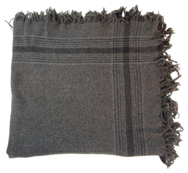 Gray & Black Wool Throw