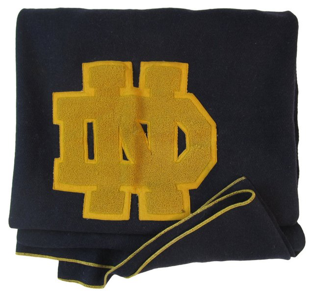 Notre Dame Wool Throw