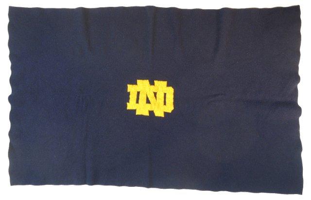 Navy Notre Dame Throw