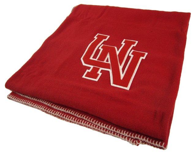 Red & White Nebraska Blanket