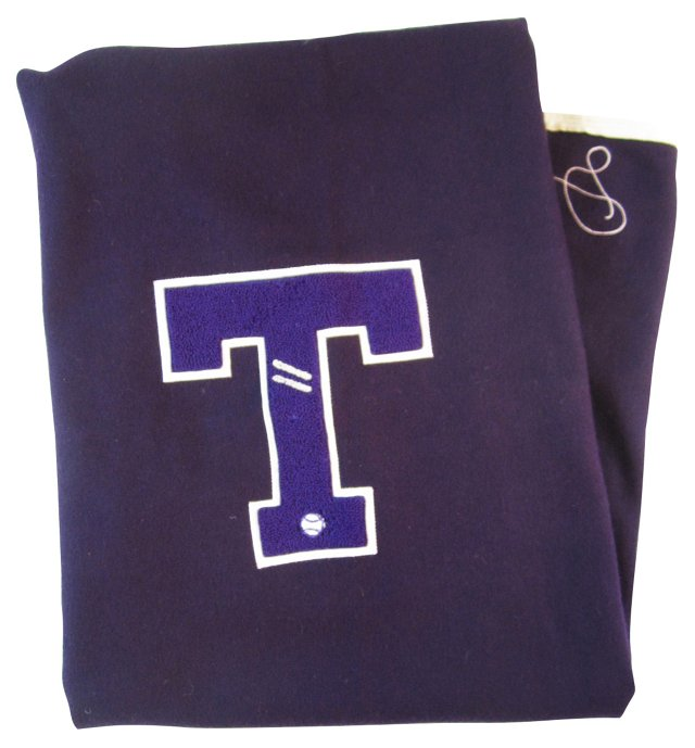 Purple & White T Blanket